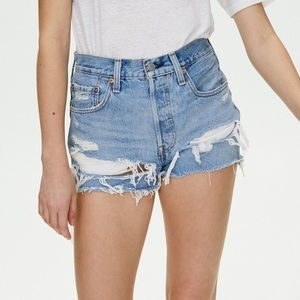 501 Levi ripped jeans